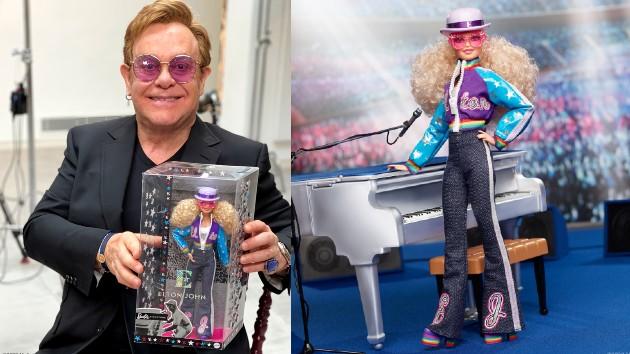 Elton: Courtesy David Furnish; Barbie: Courtesy Mattel