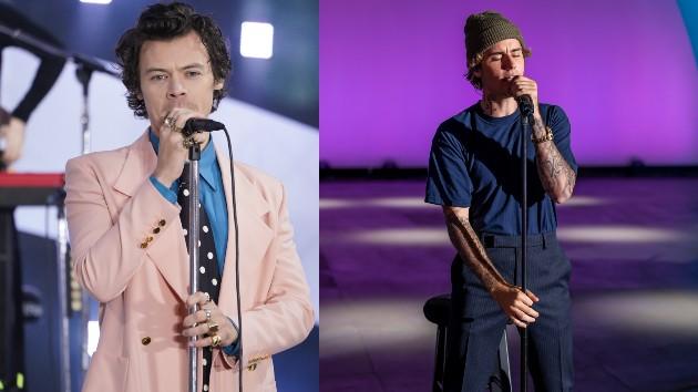 Harry: JNI/Star Max/GC Images; Justin: ABC/CMA
