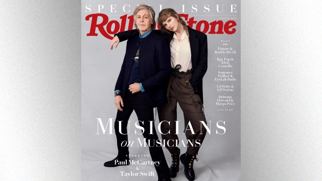 Paul McCartney and Taylor Swift, photographed in London on October 6th, 2020, by Mary McCartney