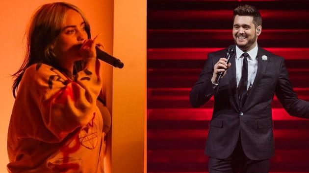 Billie Eilish: ABC; Michael Buble: Samir Hussein/WireImage