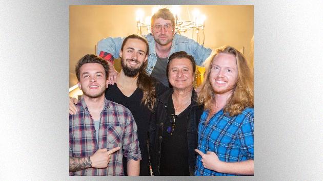 L to R: Josh Devine, Jules Galli, producer Ethan Kaufmann, Steve Perry, Trev Lukather
