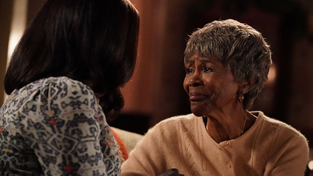 """Cicely Tyson with Viola Davis on ABC's """"How to Get Away with Murder""""; Mitch Haaseth/Walt Disney Television via Getty Images"""