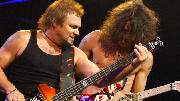 Michael Anthony with Eddie Van Halen in 2004; SGranitz/WireImage