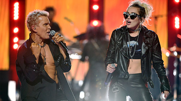 Billy Idol and Miley Cyrus in 2016; Ethan Miller/WireImage