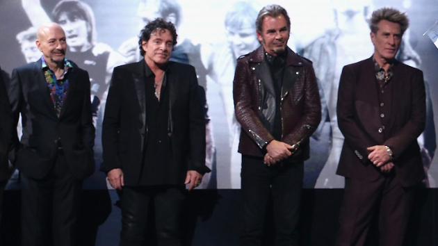L to R: Steve Smith, Neal Schon, Jonathan Cain, Ross Valory; Kevin Kane/ WireImage for Rock and Roll Hall of Fame