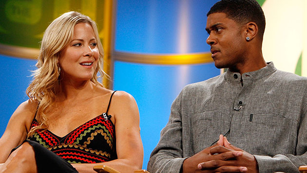 L-R: Brittany Daniel and Pooch Hall in 2006; Kevin Winter/Getty Images