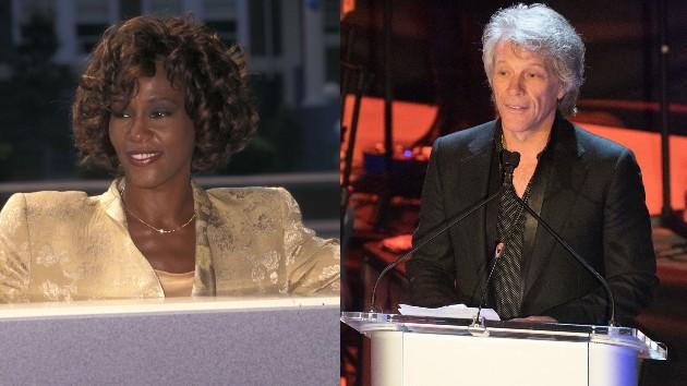 Whitney Houston:  Ron Galella/Ron Galella Collection via Getty Images; Jon Bon Jovi:  Debra L Rothenberg/Getty Images